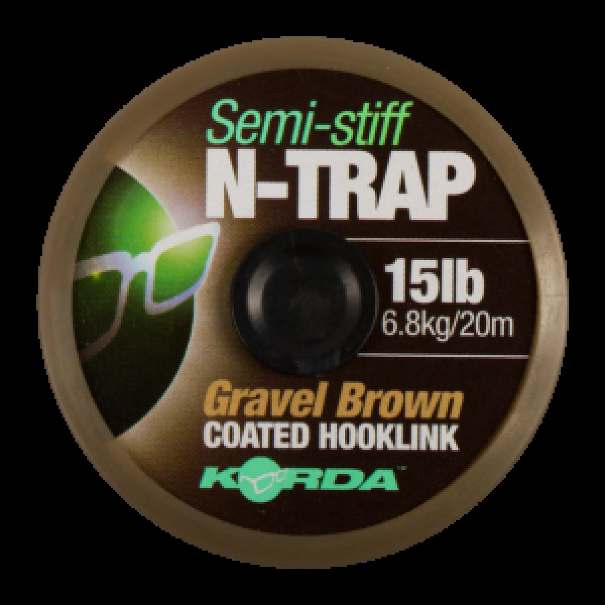 Korda N-Trap Semi Stiff wytrzymałość / kolor 20lb(9.1kg) gravel brown