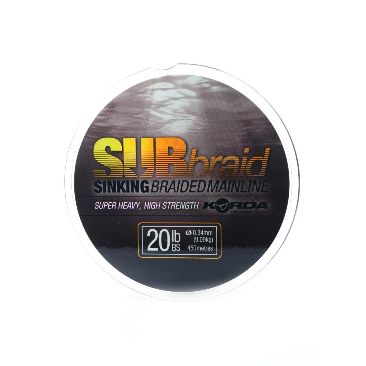 Korda SUBBraid Mainline wytrzymałość 20lb / 450m