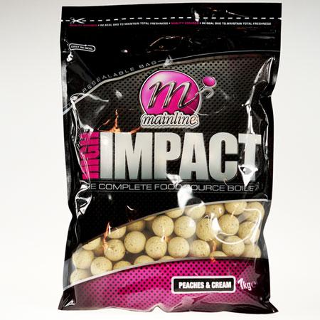 MAINLINE High Impact Peaches & Cream Boilies rozmiar 16 mm - 1 kg