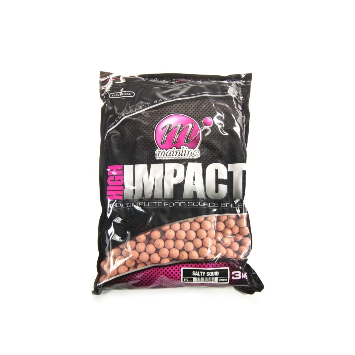 MAINLINE High Impact Salty Squid Boilies rozmiar 16 mm - 3 kg