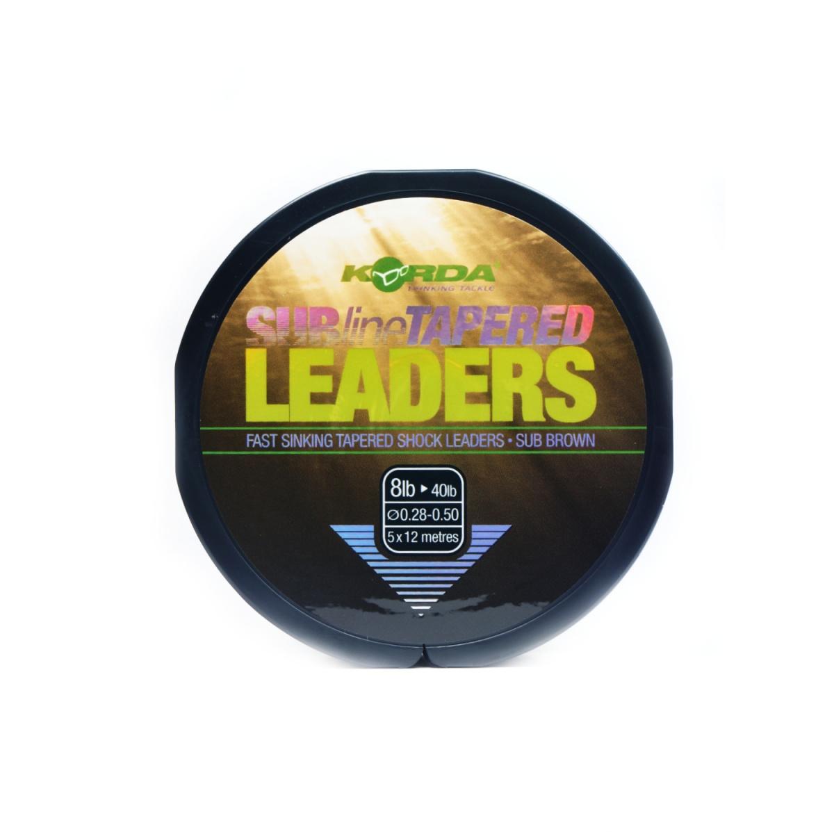 Korda Sub-Line Tapered Leader wytrzymałość 0,28-0,50