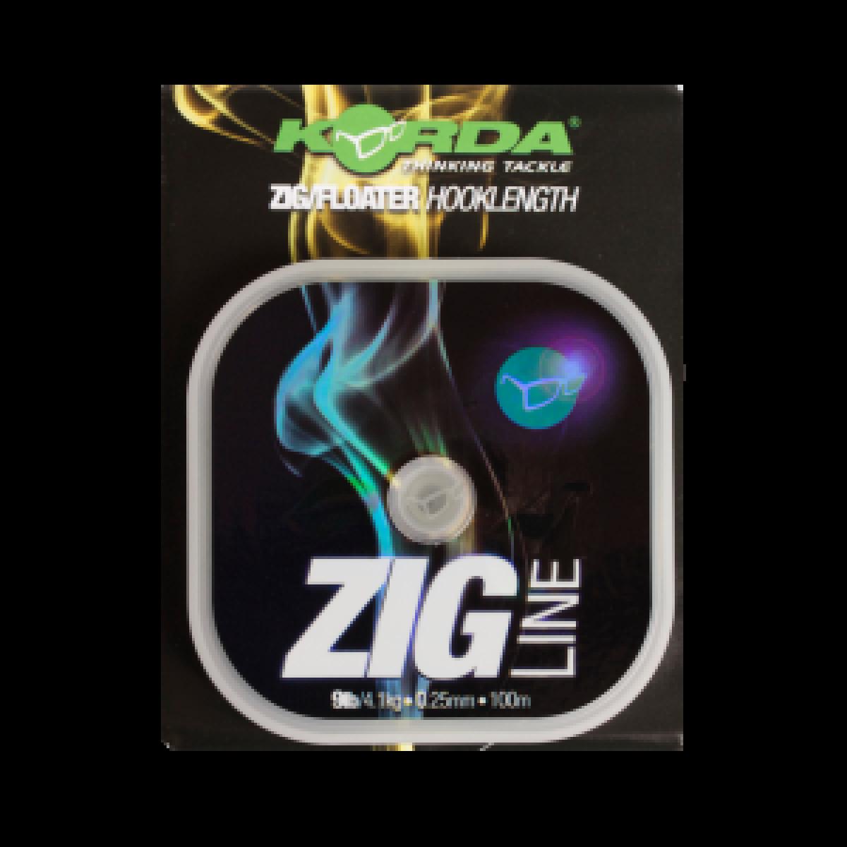 Korda Zig Line średnica/wytrzymałość 9lb / 0.25mm