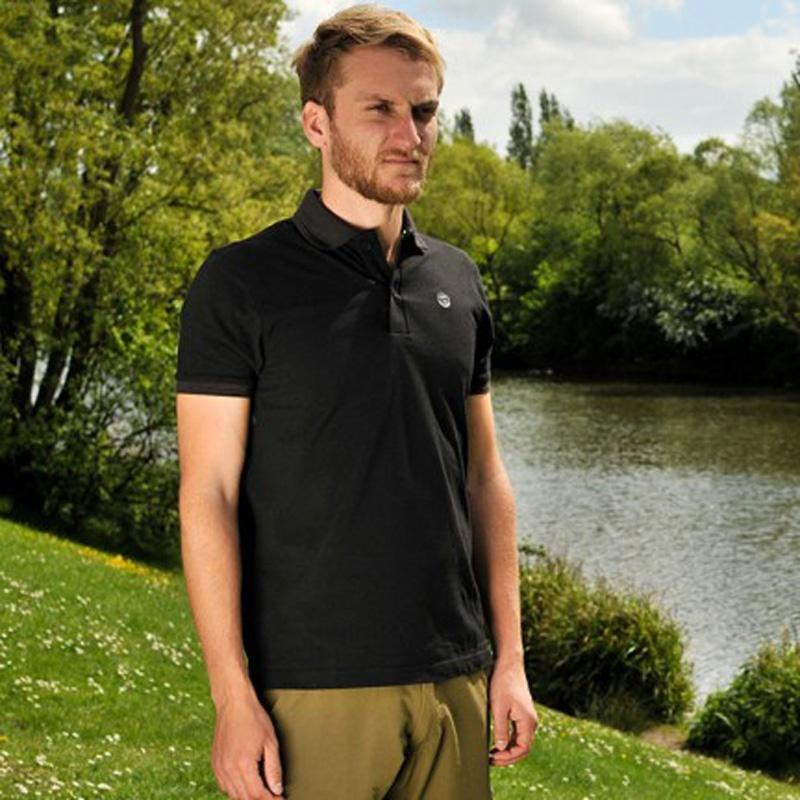 Korda Polo Shirt Black rozmiar S