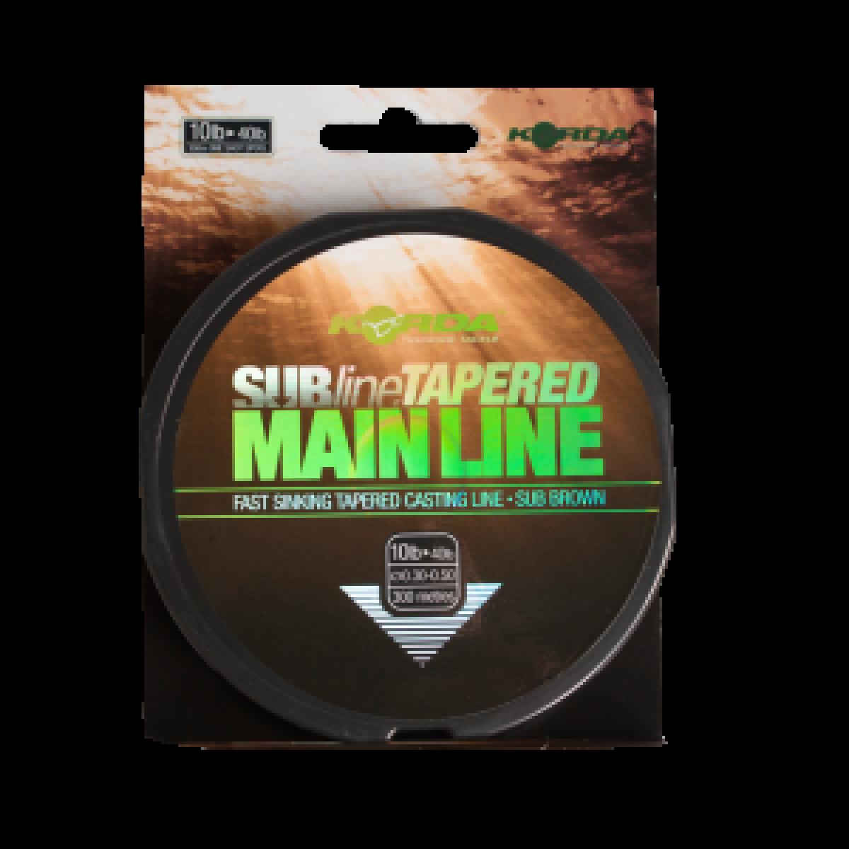 Korda SubLine Tapered Main Line średnica 0,30-0,50