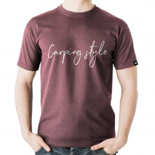Koszulka Rockworld Carping Style Melanż Bordowa Męska