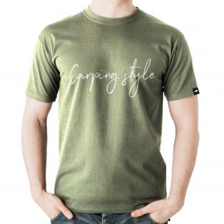 Koszulka Rockworld Carping Style Melanż Khaki Męska