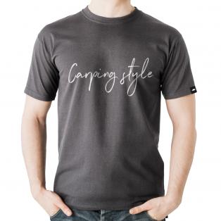 Koszulka Rockworld Carping Style Melanż Charcoal Męska