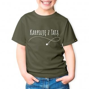 Rockworld Koszulka Dziecięca Karpiuję z Tatą Khaki