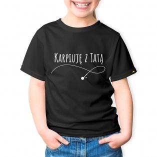 Rockworld Koszulka Dziecięca Karpiuję z Tatą Czarna