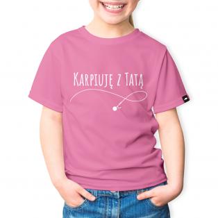 Rockworld Koszulka Dziecięca Karpiuję z Tatą Różowa