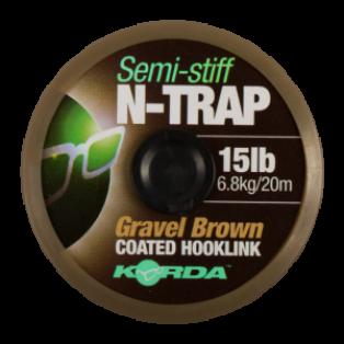 Korda N-Trap Semi Stiff wytrzymałość / kolor 30lb(13.6kg) gravel brown