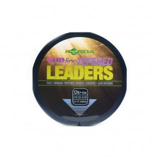 Korda Sub-Line Tapered Leader wytrzymałość 0,33-0,50