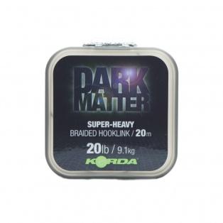 Korda Dark Matter Braid Hooklink wytrzymałość 20 lb