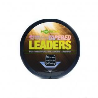 Korda Sub-Line Tapered Leader wytrzymałość 0,30-0,50